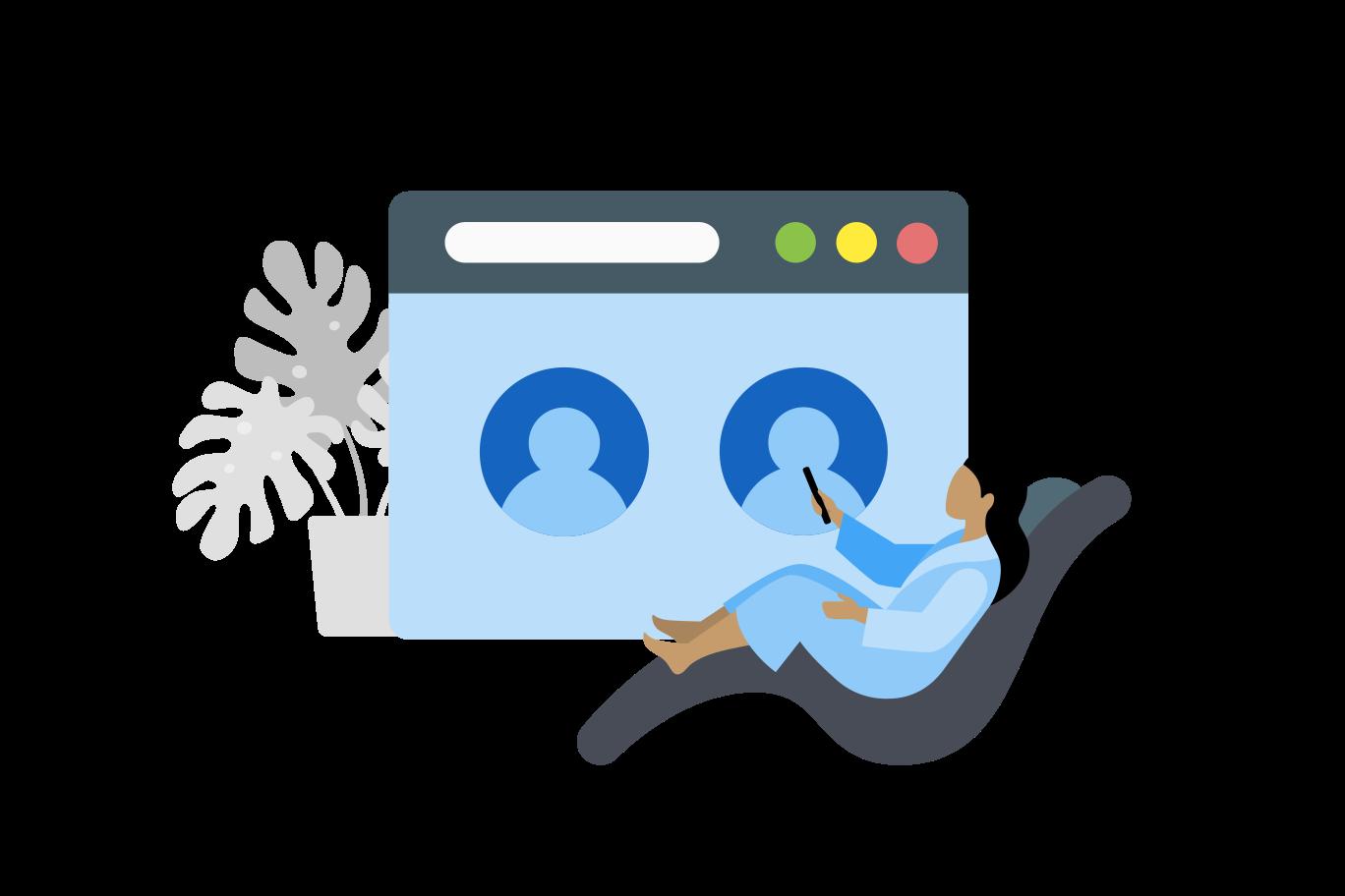 Online conference Clipart illustration in PNG, SVG