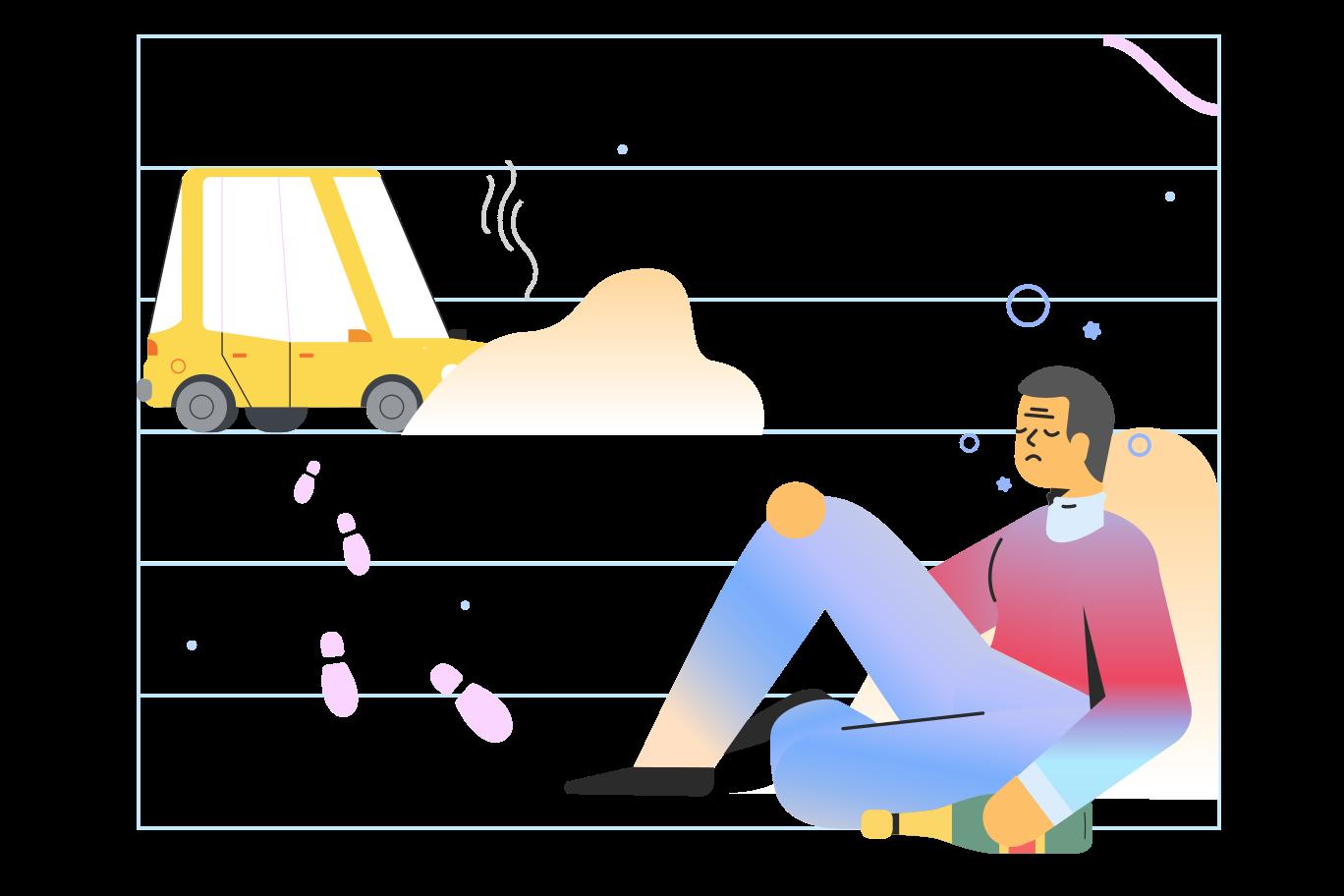 Drunk driving Clipart illustration in PNG, SVG