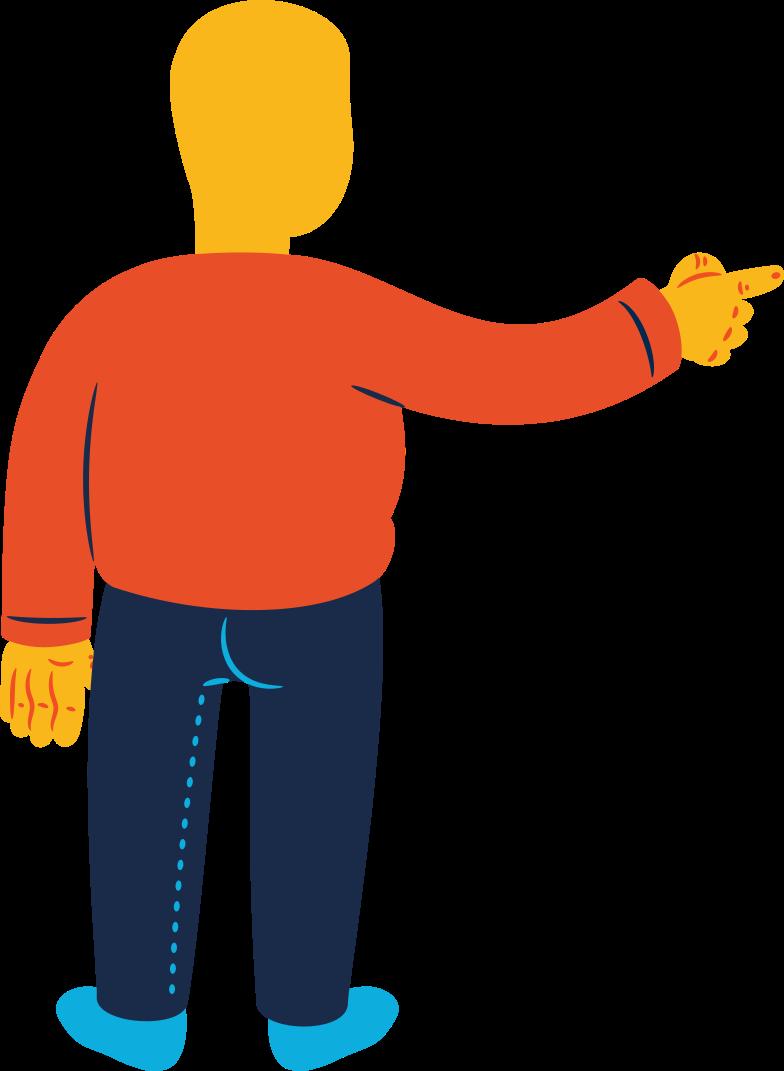 Imágenes vectoriales hombre gordito apuntando hacia atrás en PNG y SVG estilo  | Ilustraciones Icons8