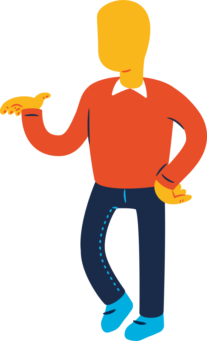 man standing profile Clipart illustration in PNG, SVG