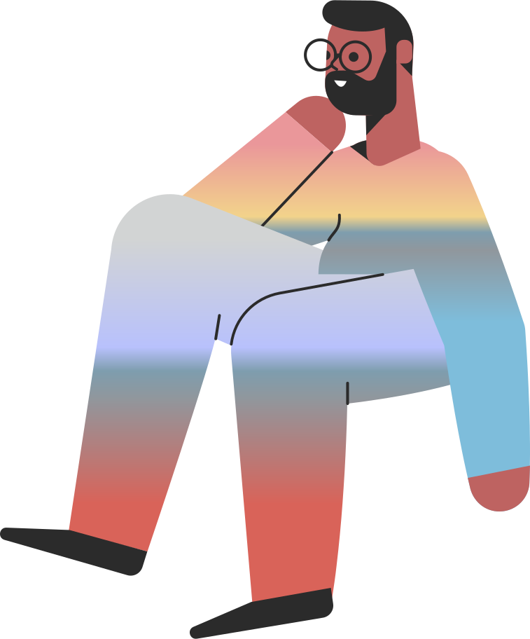 waiting  sitting man Clipart illustration in PNG, SVG