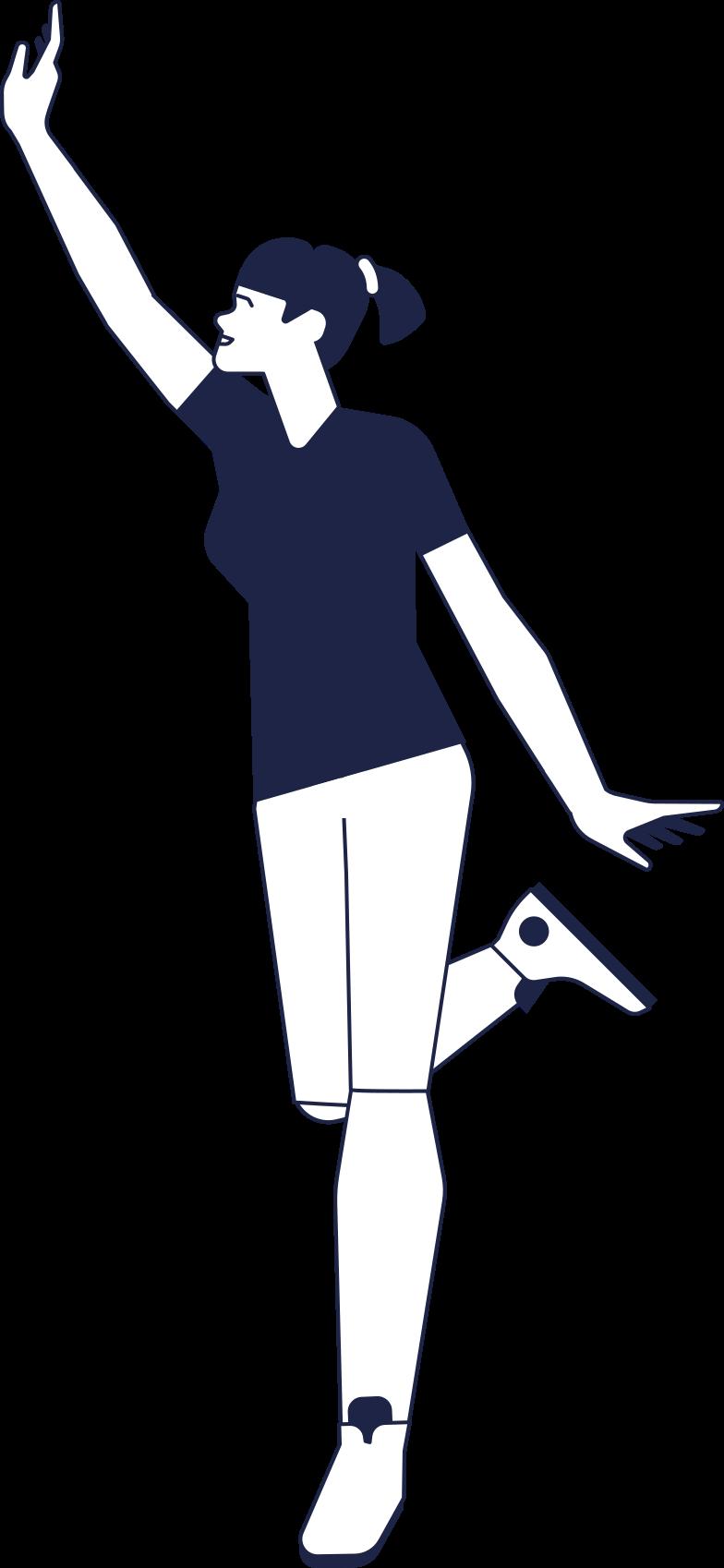 success  girl line Clipart illustration in PNG, SVG