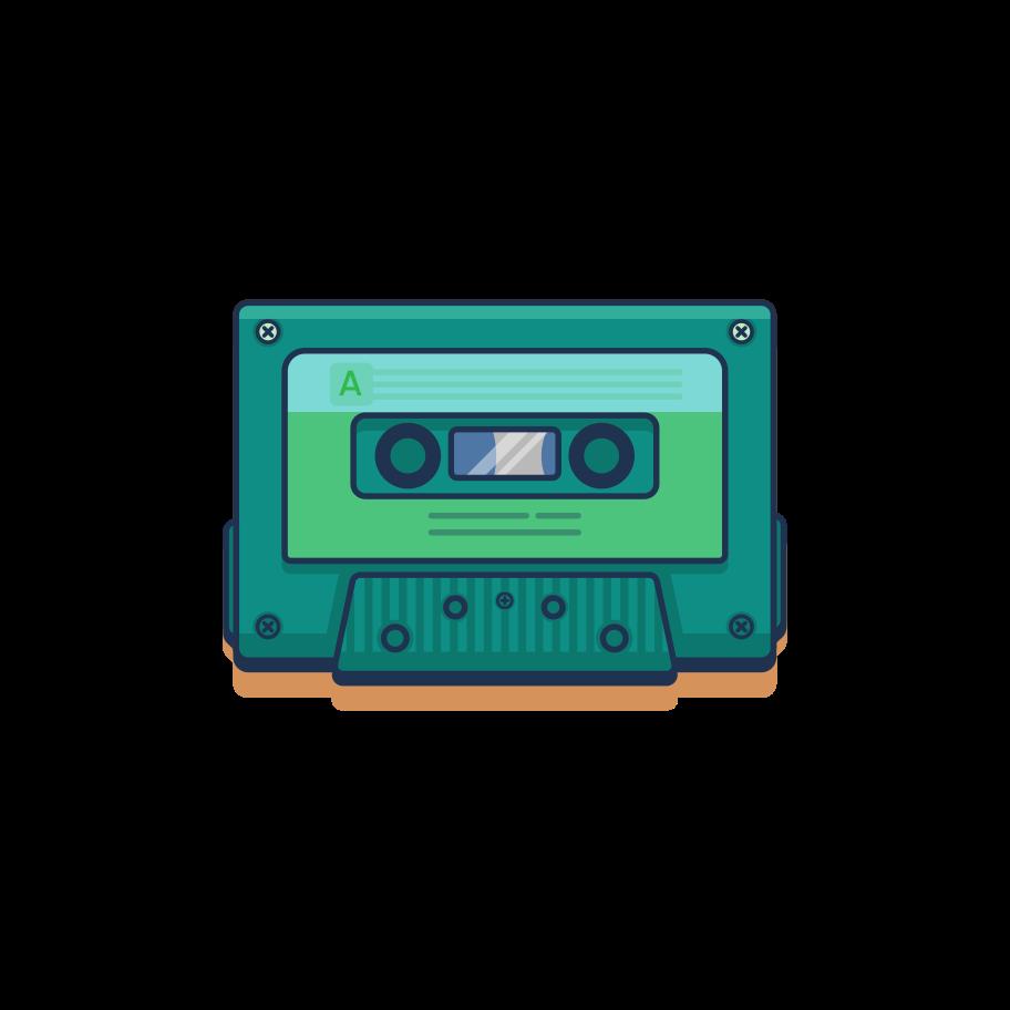 Cassette Clipart illustration in PNG, SVG