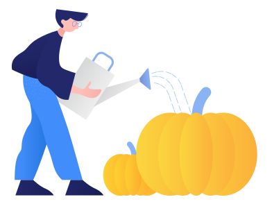style Growing pumpkins images in PNG and SVG | Icons8 Illustrations
