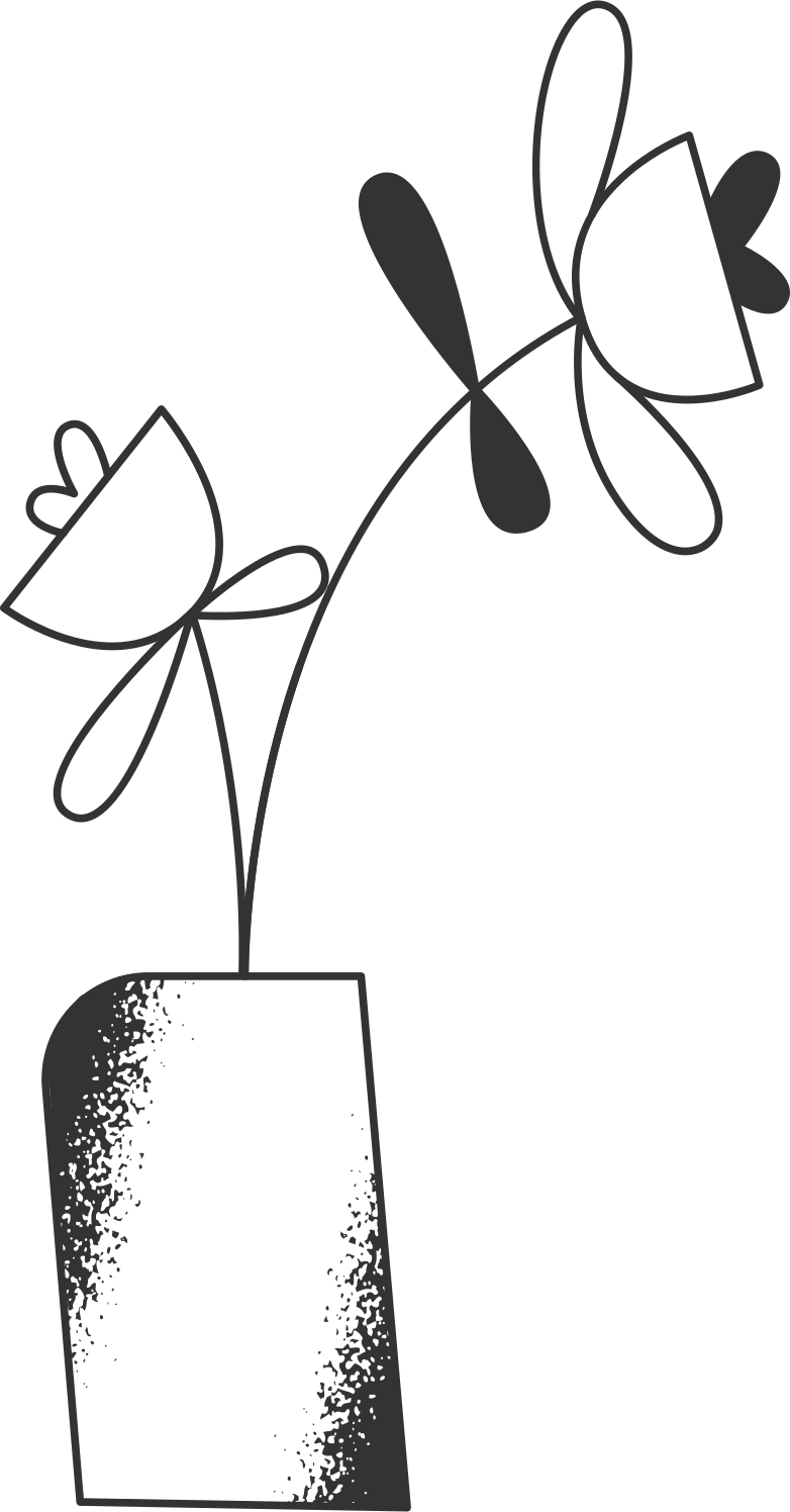 welcome 3  flowers in the vase Clipart illustration in PNG, SVG