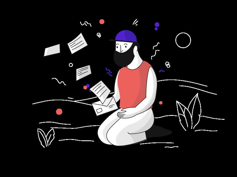 Newsletter Clipart illustration in PNG, SVG