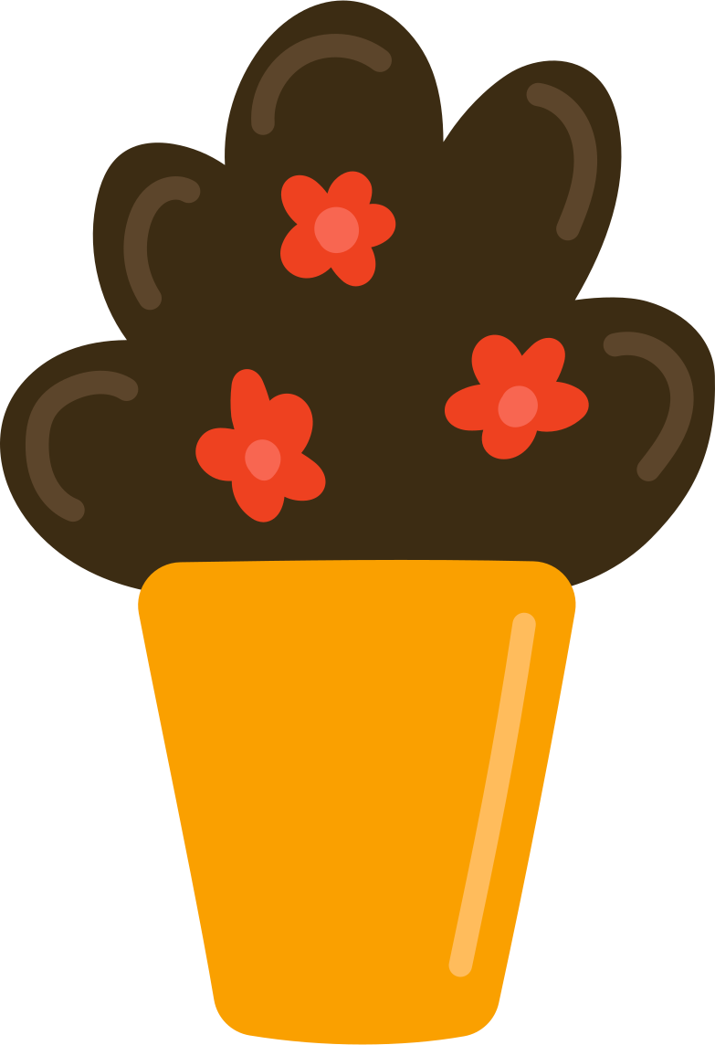 flowers in a pot Clipart illustration in PNG, SVG