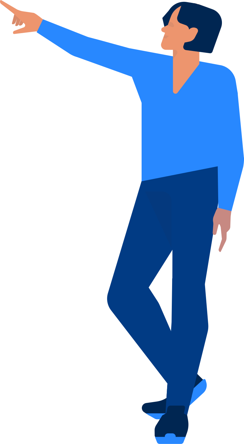 office man showing Clipart illustration in PNG, SVG