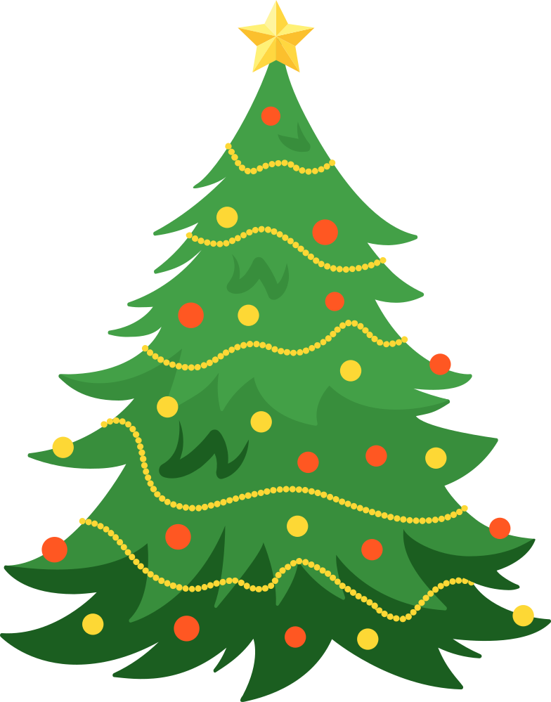 christmas tree Clipart illustration in PNG, SVG