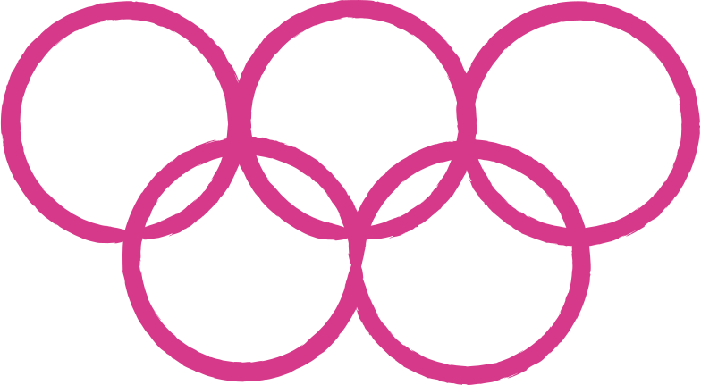 olympic rings Clipart illustration in PNG, SVG