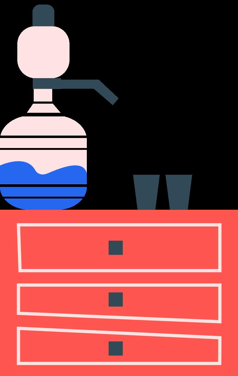 kingdom office cooler Clipart illustration in PNG, SVG