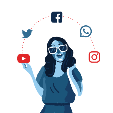 style Social Media Addiction images in PNG and SVG | Icons8 Illustrations