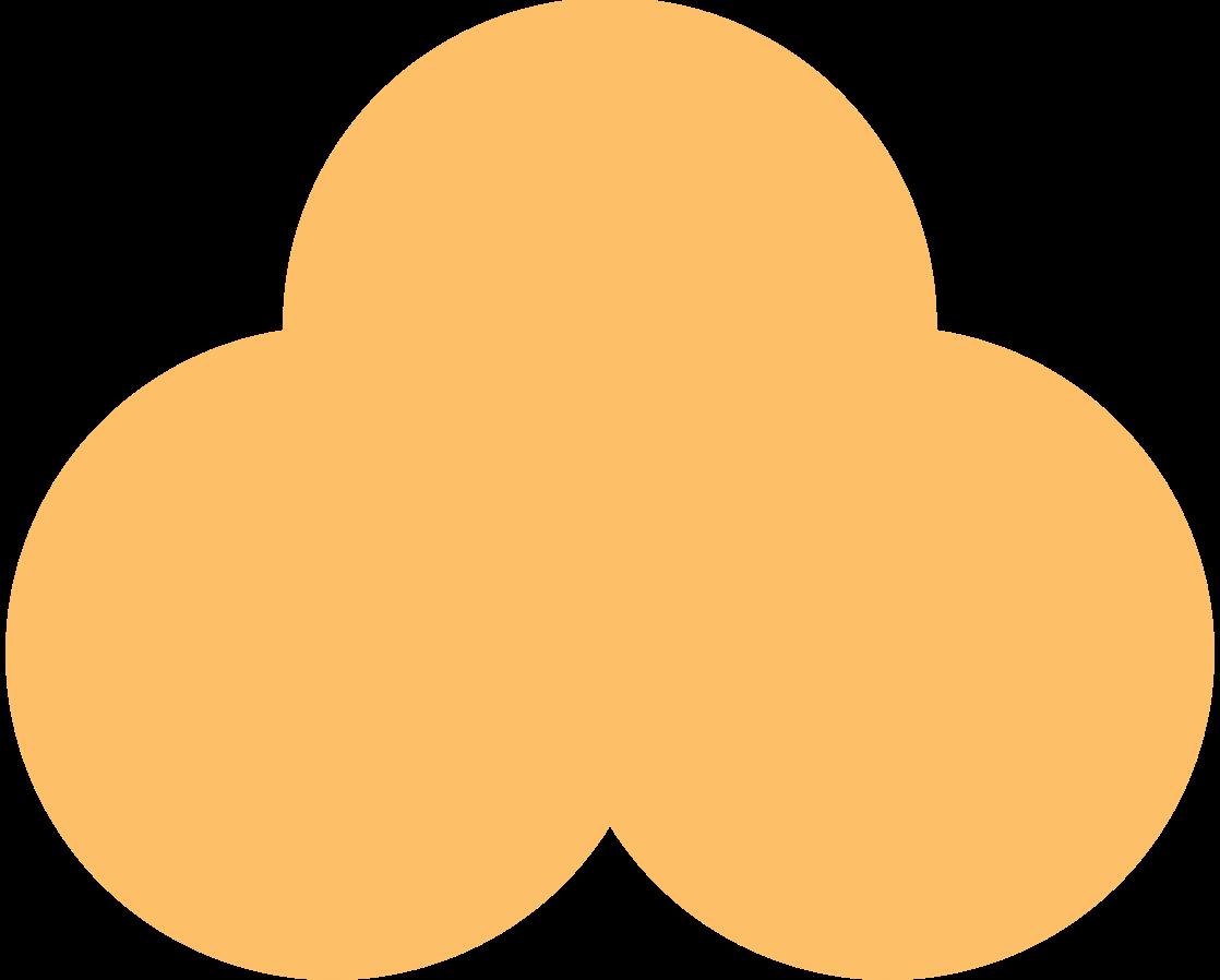 trefoil orange Clipart illustration in PNG, SVG