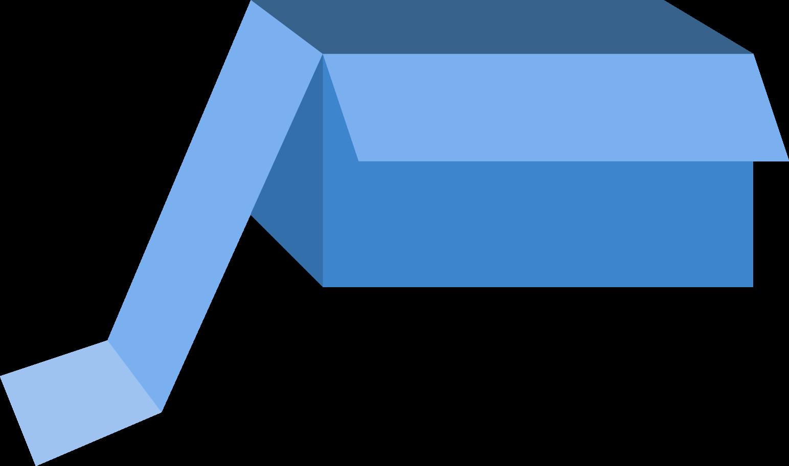 box blue Clipart illustration in PNG, SVG