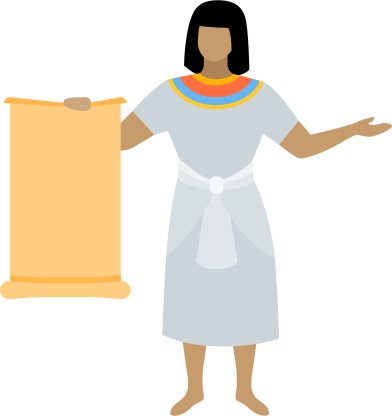 style egyptian with scroll images in PNG and SVG | Icons8 Illustrations