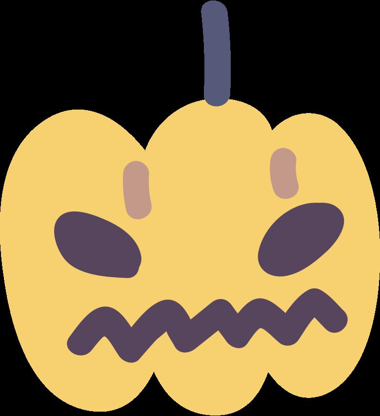 pumpkin for halloween Clipart illustration in PNG, SVG