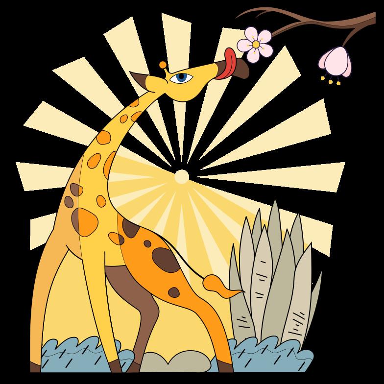 Giraffe Clipart illustration in PNG, SVG