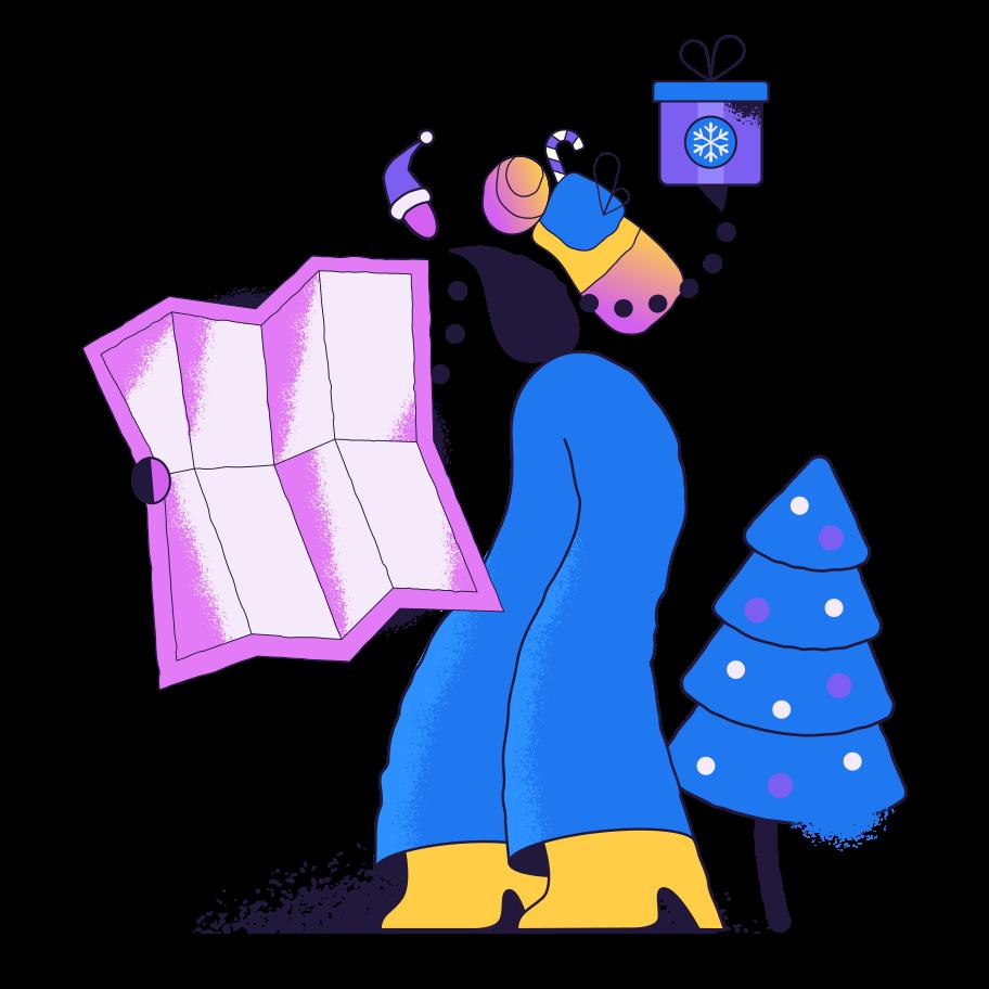 Delivering gifts Clipart illustration in PNG, SVG