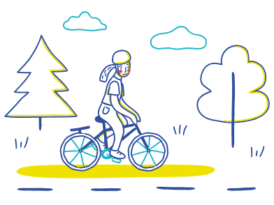 style Bicycle ride images in PNG and SVG | Icons8 Illustrations