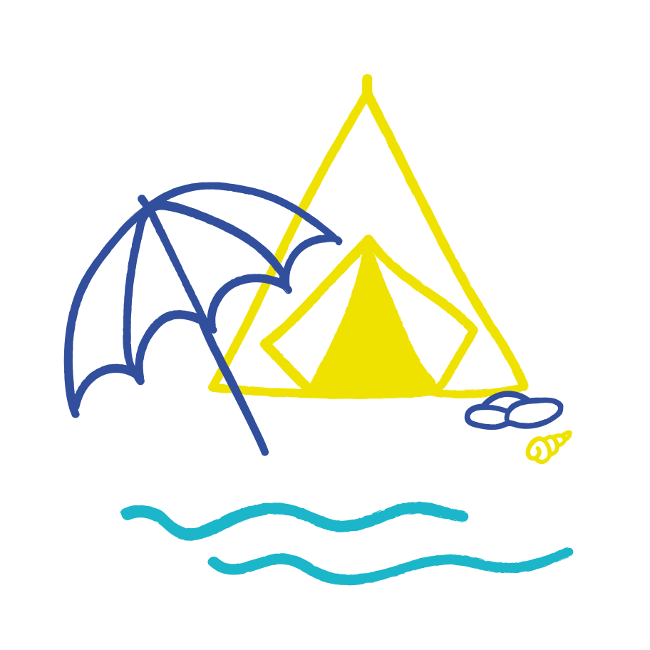 Camping near the sea Clipart illustration in PNG, SVG