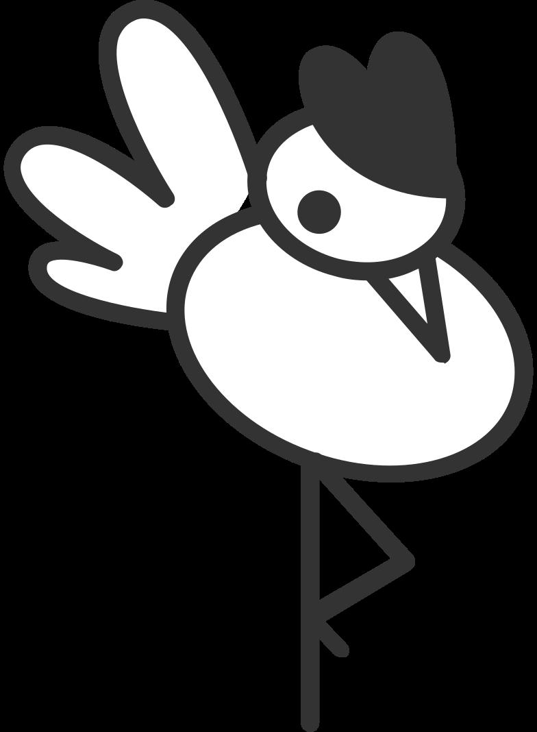 Ilustração de clipart de pássaro em PNG e SVG