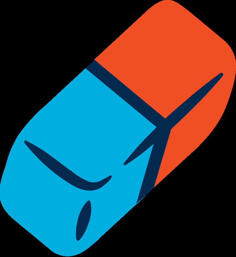 eraser Clipart illustration in PNG, SVG