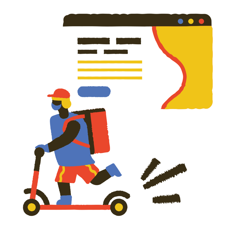style Delivery hero Vector images in PNG and SVG | Icons8 Illustrations