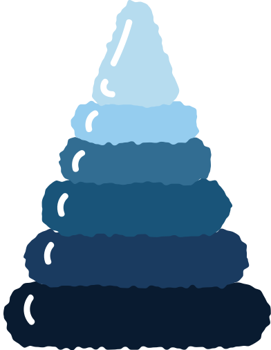 style pyramid blue images in PNG and SVG | Icons8 Illustrations