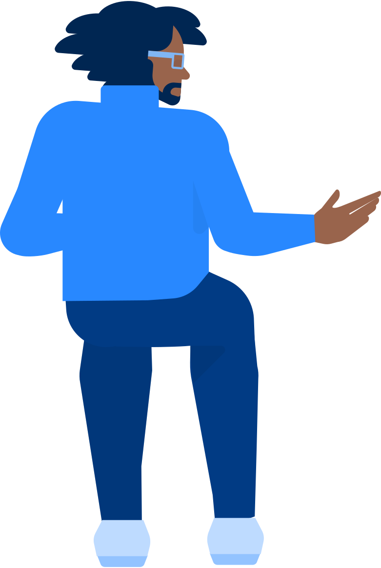 man sitting back view Clipart illustration in PNG, SVG