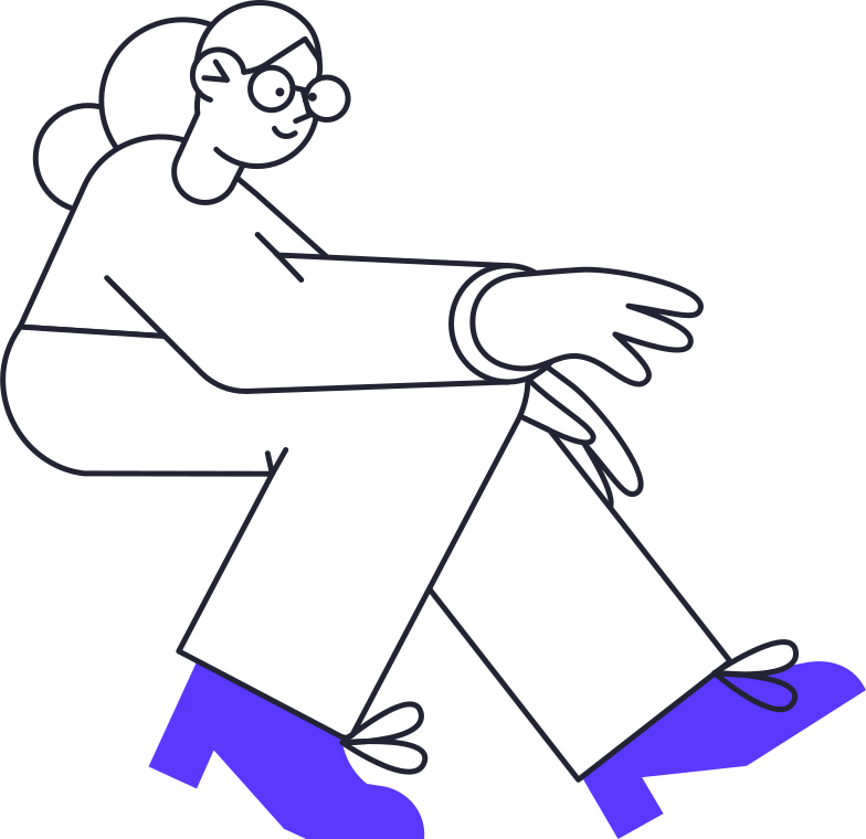 woman looking at laptop Clipart illustration in PNG, SVG