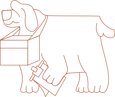 style i delivery dog images in PNG and SVG | Icons8 Illustrations
