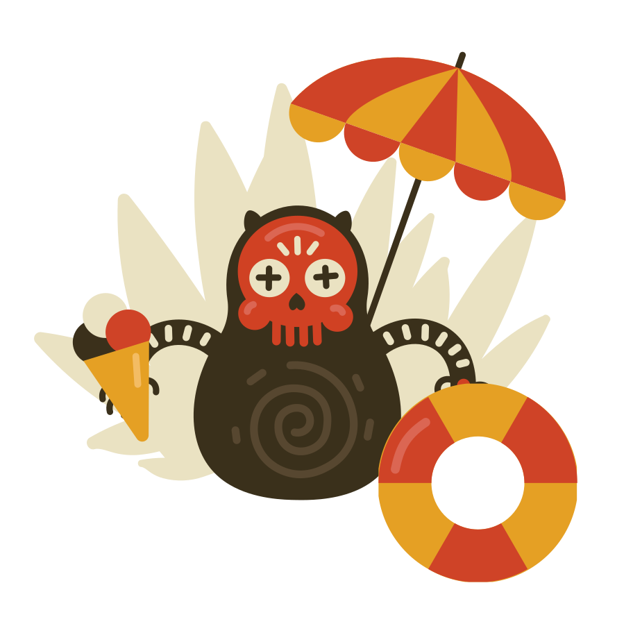 Summer time Clipart illustration in PNG, SVG