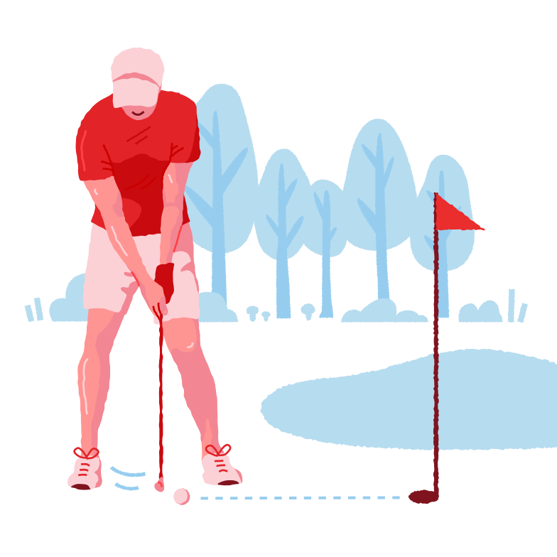 Golf near the lake Clipart illustration in PNG, SVG