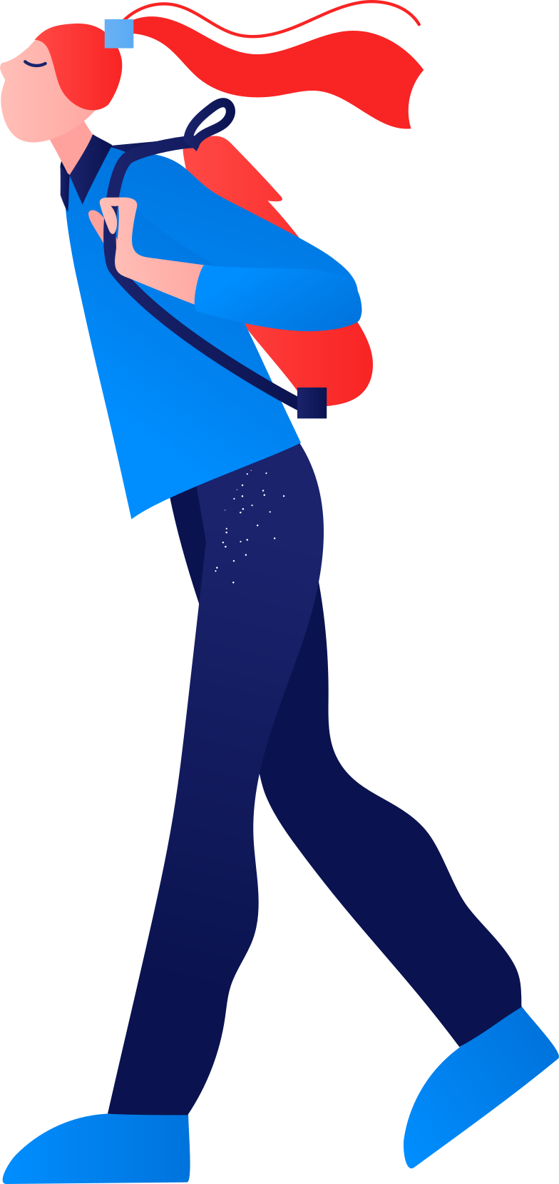 student Clipart illustration in PNG, SVG