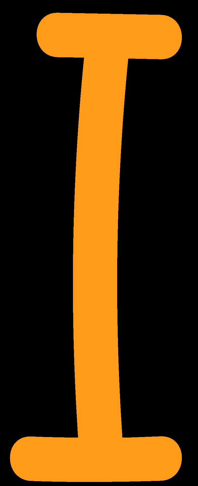 Клипарт Я желтый в PNG и SVG