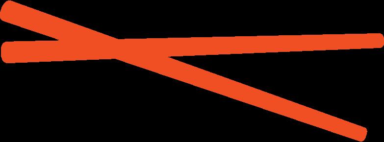Ilustración de clipart de palillos en PNG, SVG