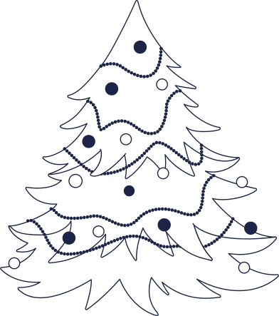 style new year tree line images in PNG and SVG   Icons8 Illustrations