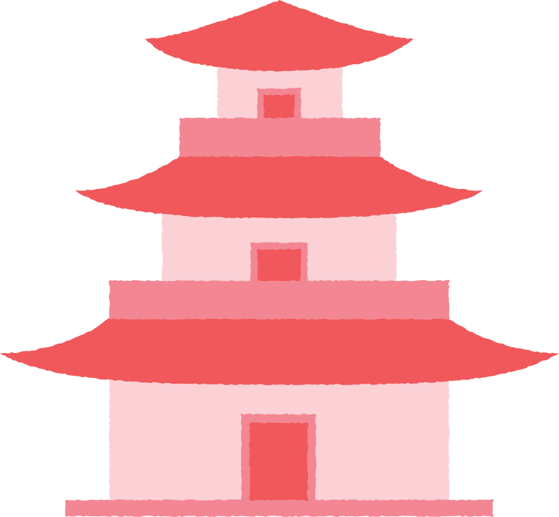 pagoda tall with doors Clipart illustration in PNG, SVG