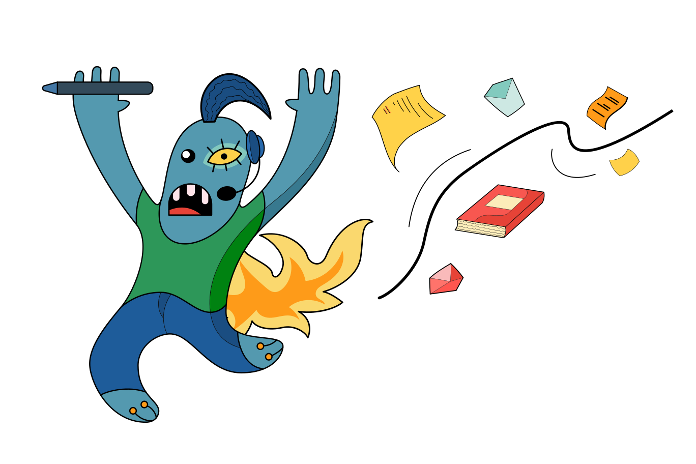 Avoiding work Clipart illustration in PNG, SVG