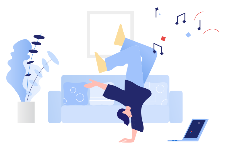 style Dancing in front of the laptop Vector images in PNG and SVG | Icons8 Illustrations