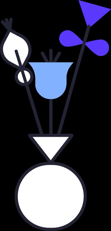 uploading  flowers in vase Clipart illustration in PNG, SVG