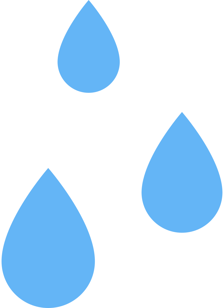 water drops Clipart illustration in PNG, SVG
