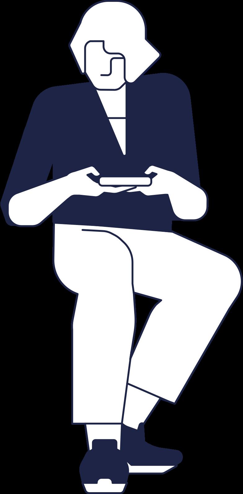 Клипарт Ожидающий человек 2 линия в PNG и SVG