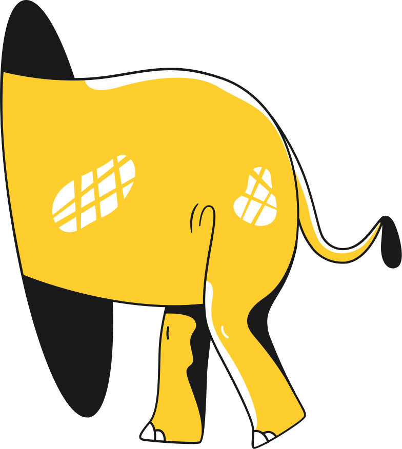 elephant butt Clipart illustration in PNG, SVG