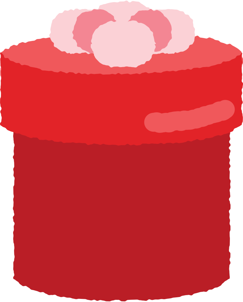 round box present with bow Clipart illustration in PNG, SVG