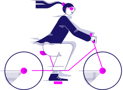 style y traveling woman on the bicycle images in PNG and SVG   Icons8 Illustrations