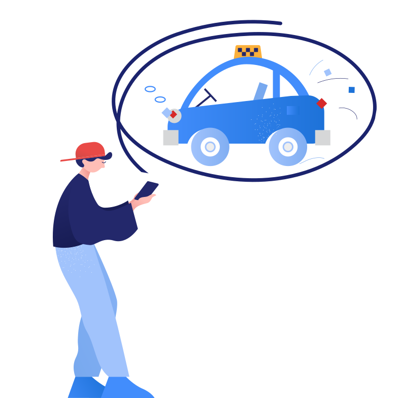 style Waiting for taxi Vector images in PNG and SVG | Icons8 Illustrations