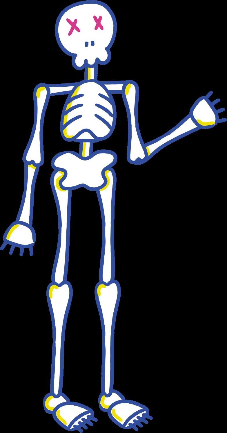halloween skeleton welcome Clipart illustration in PNG, SVG