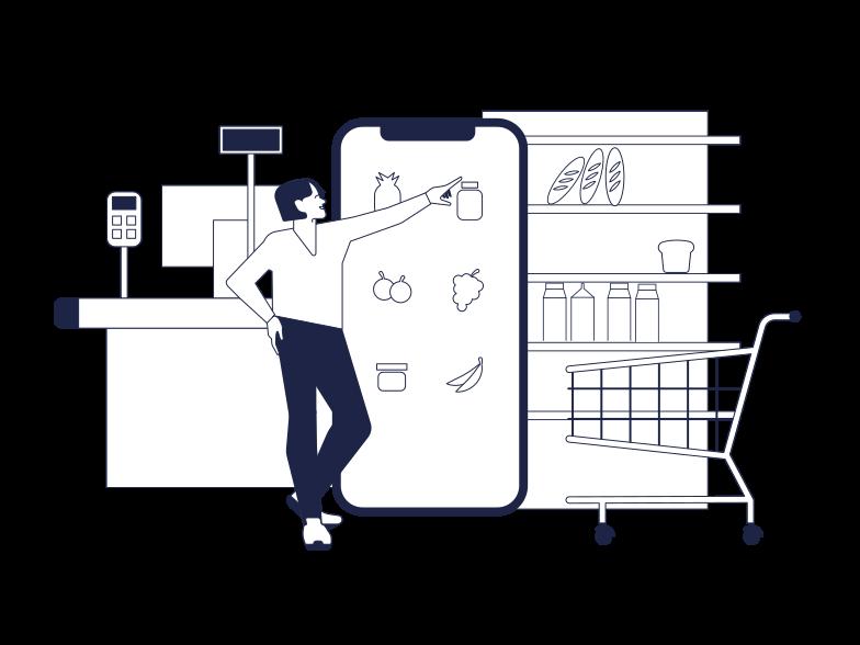 Online Food Store Clipart illustration in PNG, SVG