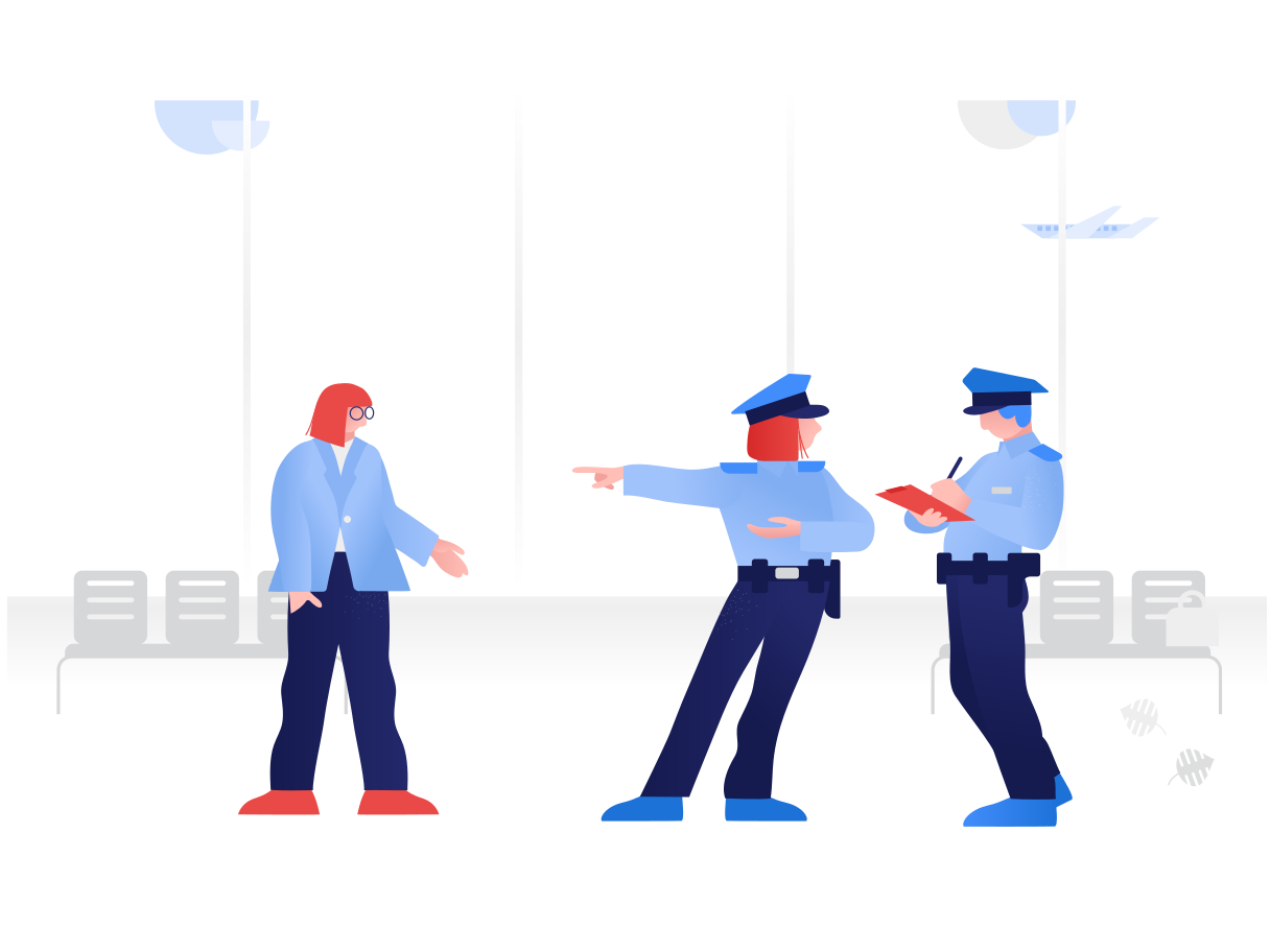 Police gives a fine  Clipart illustration in PNG, SVG